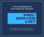Proserver list is a directory for the best process servers in the United States