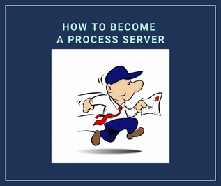 How to Become a process server: a man running to serve legal documents