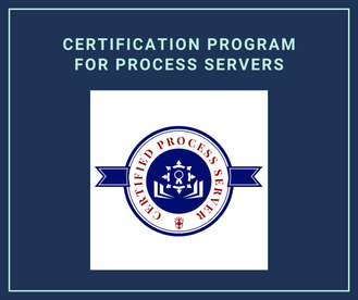 Certification Program for Process Servers Nationwide