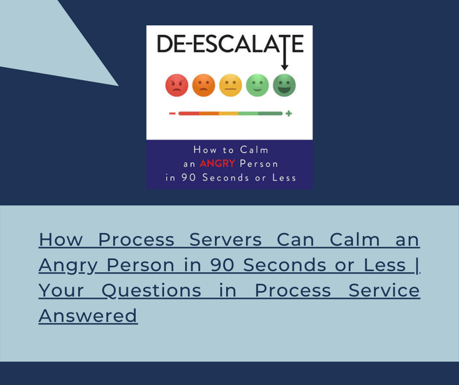 De-Escalate: How to calm an angry person in 90 seconds of less