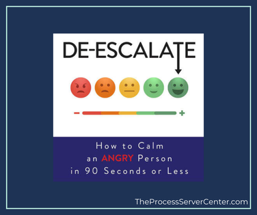 De-escalate a tough situation - the 90 second rule for process servers
