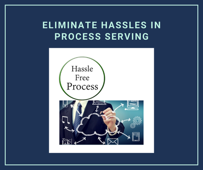 Eliminate Hassles in process serving; hassle-free process; a man writing on a board