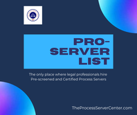easily find a process server with PROServer List