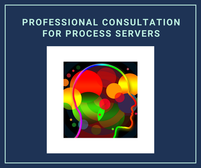 Professional consultation for process servers, an image of a human's brain