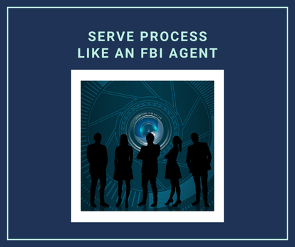 Tactics and strategies specifically developed for the process service industry based on the experience and knowledge of FBI agents and law enforcement officers.