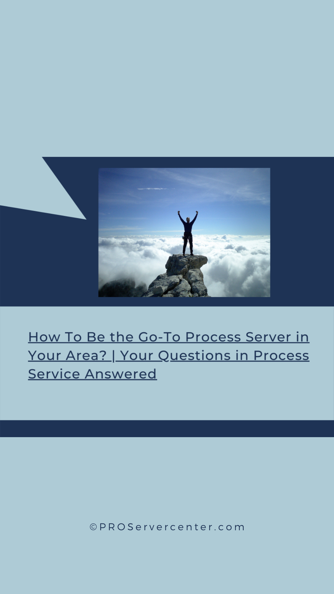 How to be the Go To Process Server in your area?